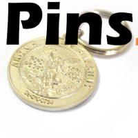 Llavero personalizado con moneda.